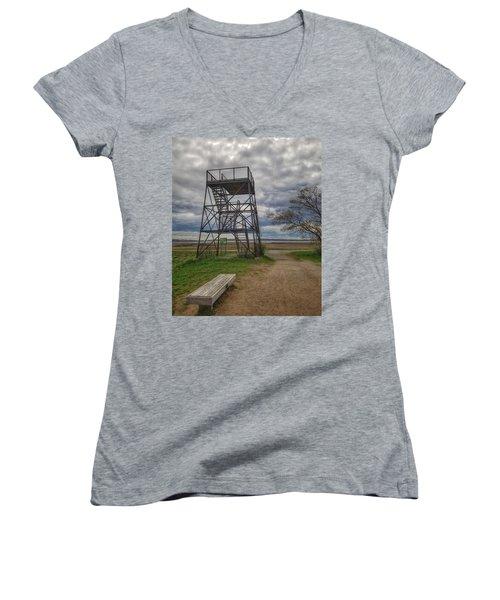 The Watchtower  Women's V-Neck T-Shirt
