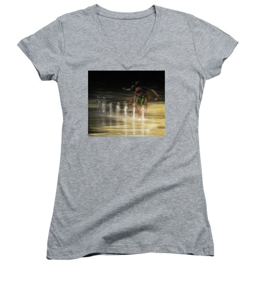 The Water Maestro  Women's V-Neck T-Shirt