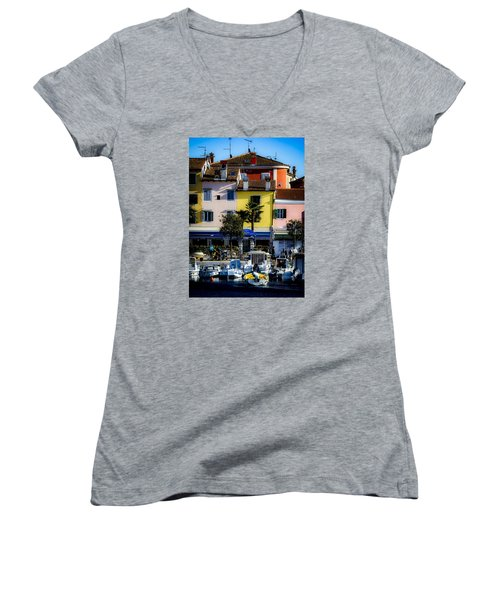 The Watercolors In Split Women's V-Neck
