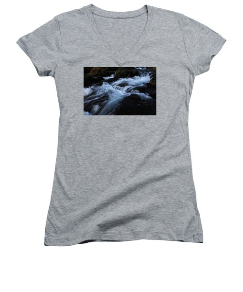 The Waters Of Kirkjufell Women's V-Neck T-Shirt