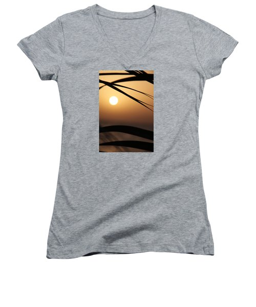 the way I lean Women's V-Neck T-Shirt (Junior Cut) by Jez C Self