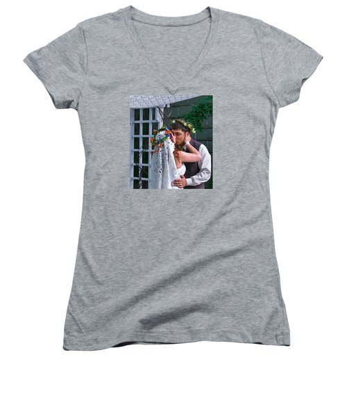 The Wedding Kiss Women's V-Neck (Athletic Fit)