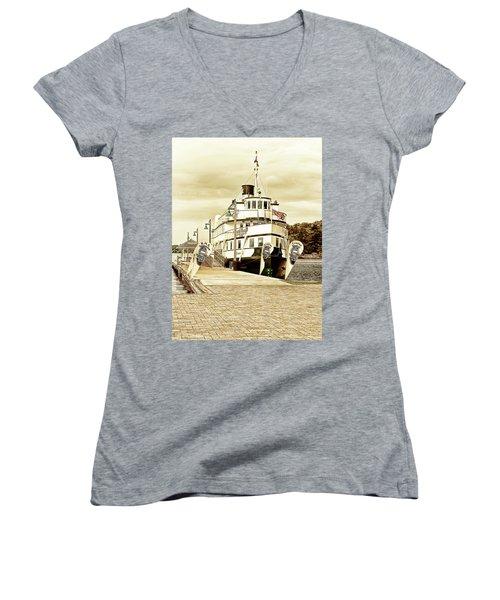 The Wenonah II Women's V-Neck T-Shirt