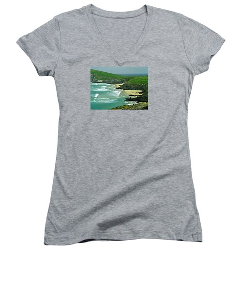 The West Coast Of Ireland Women's V-Neck T-Shirt (Junior Cut) by Patricia Griffin Brett