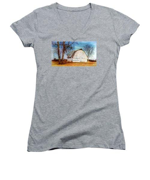 The White Barn Women's V-Neck T-Shirt