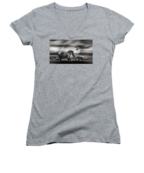 The Wild Women's V-Neck (Athletic Fit)