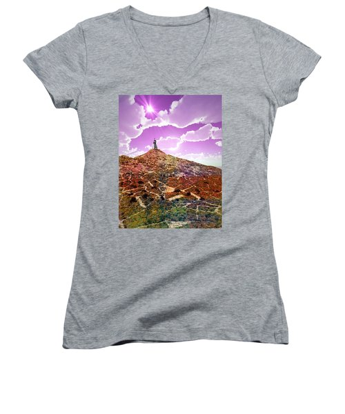 The Wizzard Women's V-Neck (Athletic Fit)