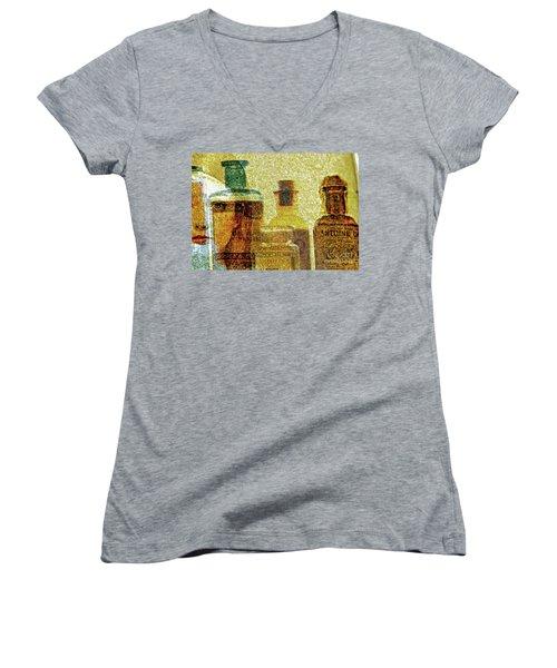 The Woman Behind Women's V-Neck T-Shirt (Junior Cut) by Michael Cinnamond