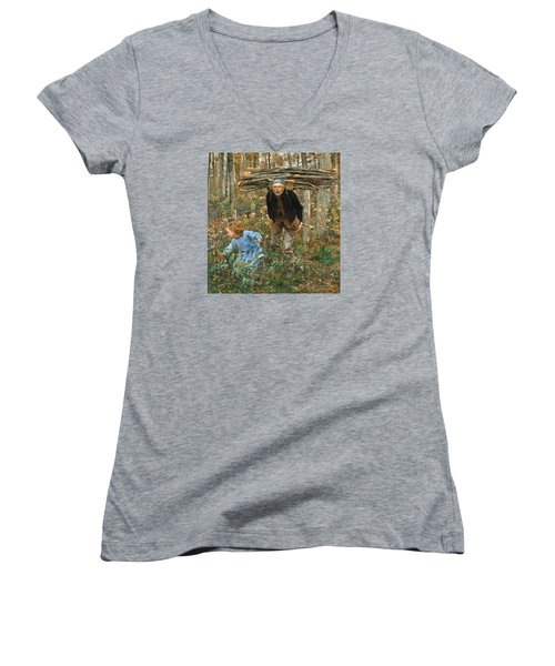 The Wood Gatherer Women's V-Neck T-Shirt