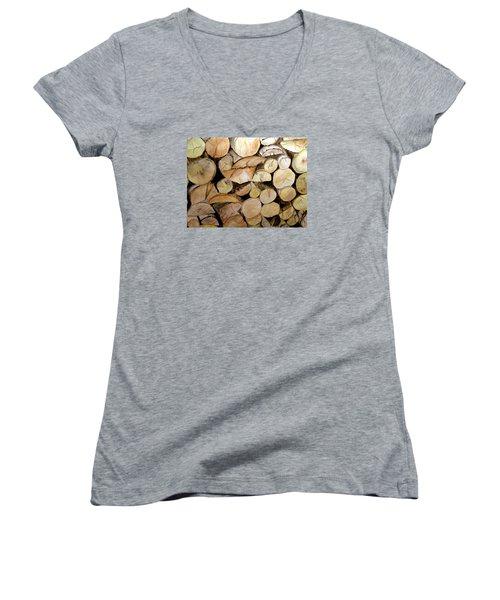 The Woodpile Women's V-Neck T-Shirt