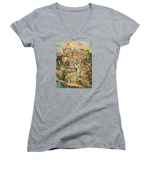 The Works Of Mercy Women's V-Neck T-Shirt