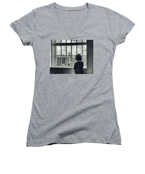 The World Outside My Window Women's V-Neck T-Shirt