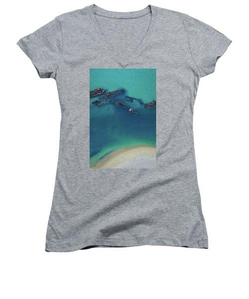 The Wrecks Women's V-Neck T-Shirt