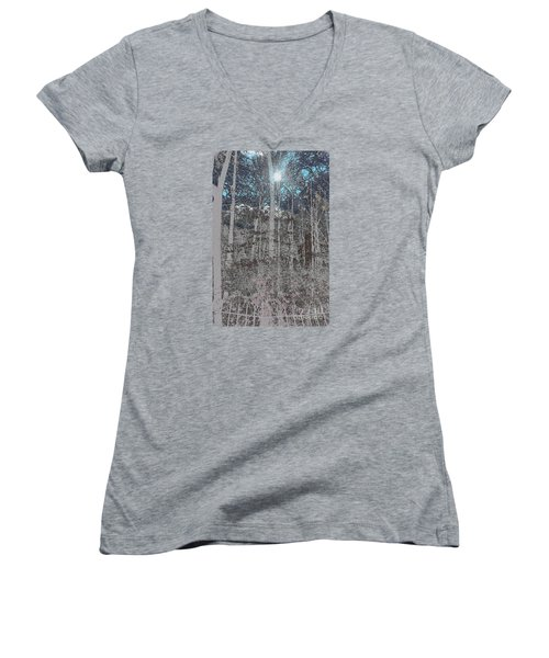 The Yard Women's V-Neck T-Shirt (Junior Cut) by Jesse Ciazza