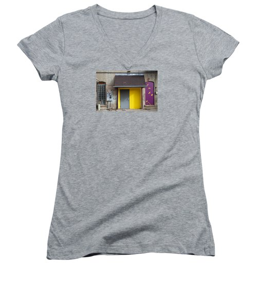 Women's V-Neck T-Shirt (Junior Cut) featuring the photograph The Yellow Birds by Monte Stevens