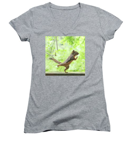 The Yoga Student Women's V-Neck T-Shirt (Junior Cut) by Peggy Collins