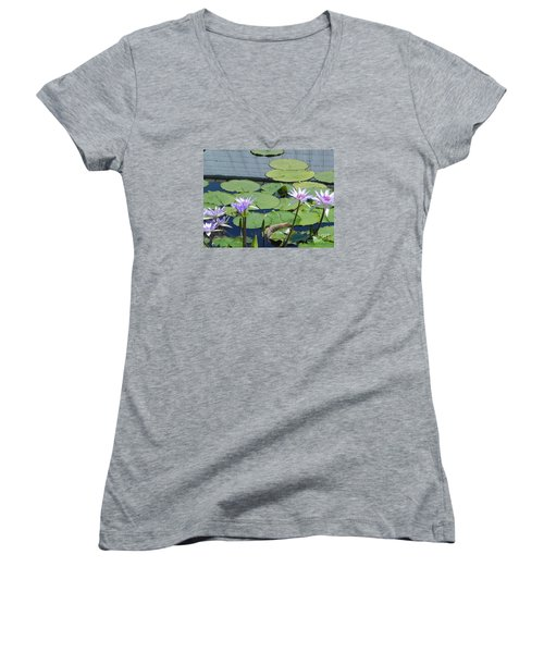 Women's V-Neck T-Shirt (Junior Cut) featuring the photograph Their Own Kaleidoscope Of Color by Chrisann Ellis