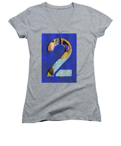 Thenumber 2 Women's V-Neck T-Shirt