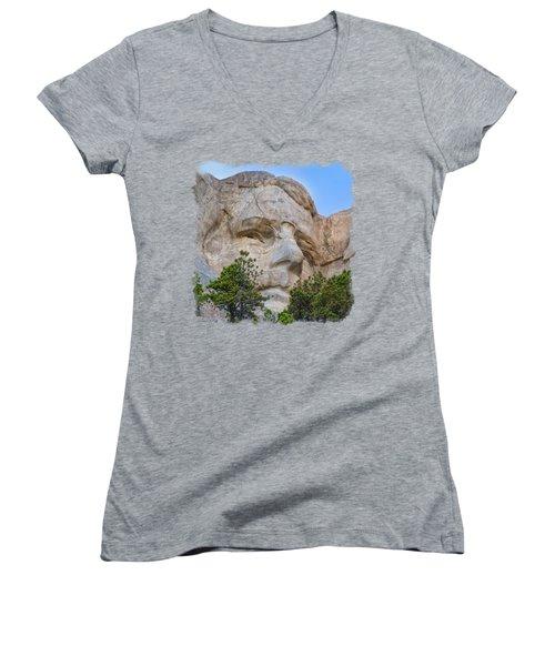 Theodore Roosevelt 3 Women's V-Neck T-Shirt