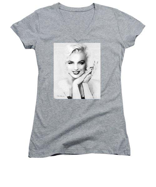 Theo's Marilyn 133 Bw Women's V-Neck