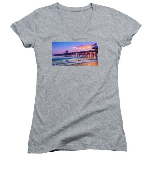 There Will Be Another One - San Clemente Pier Sunset Women's V-Neck