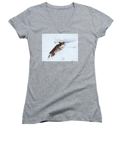 There's No Mountain To High Women's V-Neck (Athletic Fit)