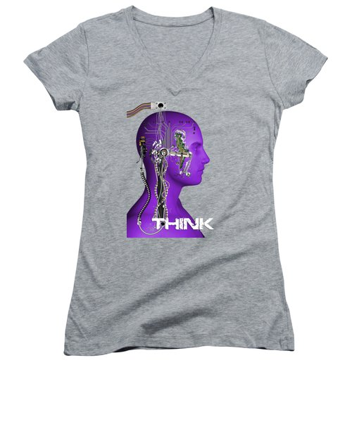 Think Women's V-Neck (Athletic Fit)