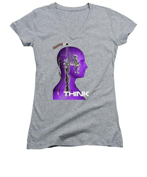 Think Women's V-Neck