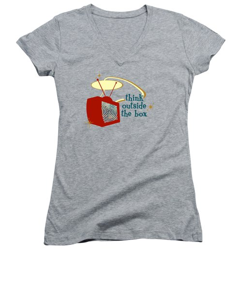 Think Outside The Box Women's V-Neck (Athletic Fit)
