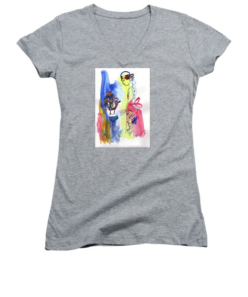 Thinking Of Tonight Women's V-Neck T-Shirt