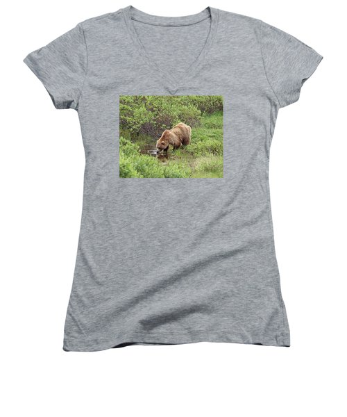 Thirsty Grizzly Women's V-Neck