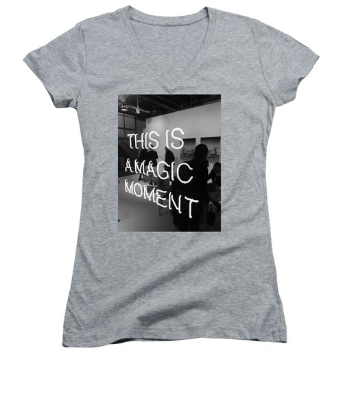 This Is A Magic Moment Women's V-Neck T-Shirt (Junior Cut) by Funkpix Photo Hunter