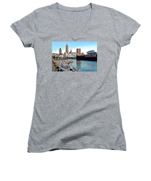 This Is Cleveland Women's V-Neck T-Shirt (Junior Cut) by Frozen in Time Fine Art Photography