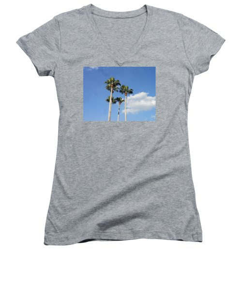 This Is Florida Women's V-Neck T-Shirt (Junior Cut) by Kay Gilley