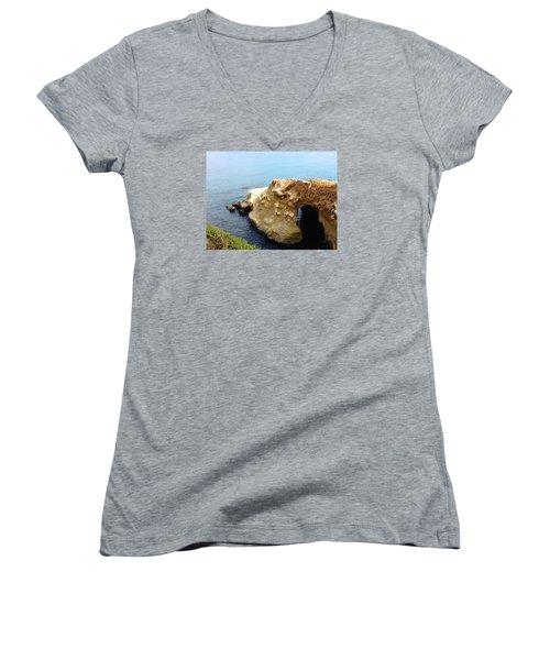 This Is La Jolla Women's V-Neck T-Shirt (Junior Cut) by Beth Saffer