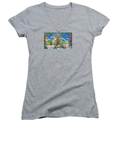 This Magical Land Women's V-Neck T-Shirt (Junior Cut) by Matt Konar