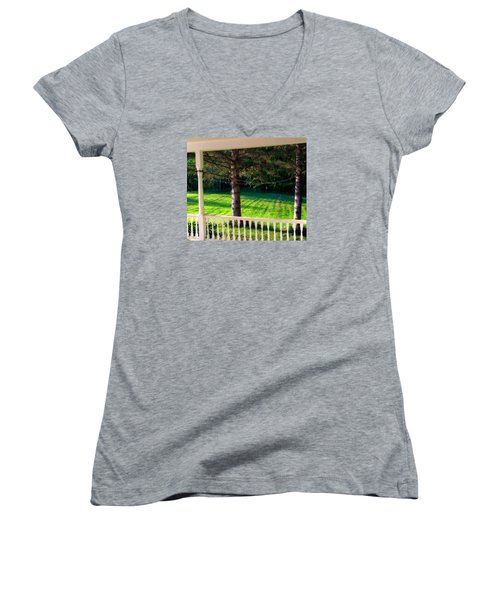 This Old Porch Women's V-Neck (Athletic Fit)