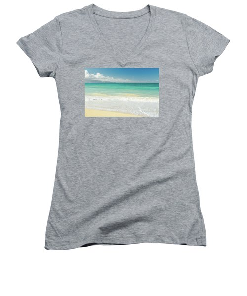 Women's V-Neck T-Shirt (Junior Cut) featuring the photograph This Paradise Life by Sharon Mau