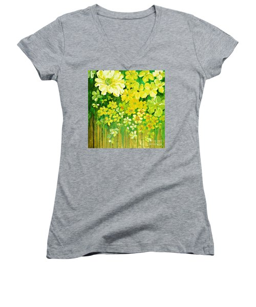 This Summer Fields Of Flowers Women's V-Neck (Athletic Fit)