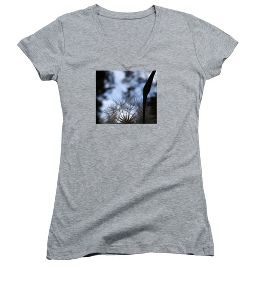 Thistle At Dusk Women's V-Neck T-Shirt (Junior Cut)