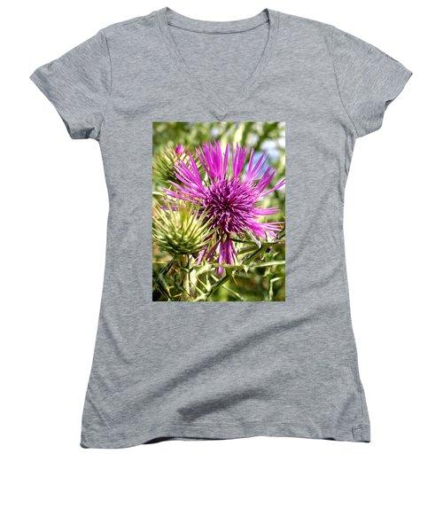 Thistle Women's V-Neck T-Shirt
