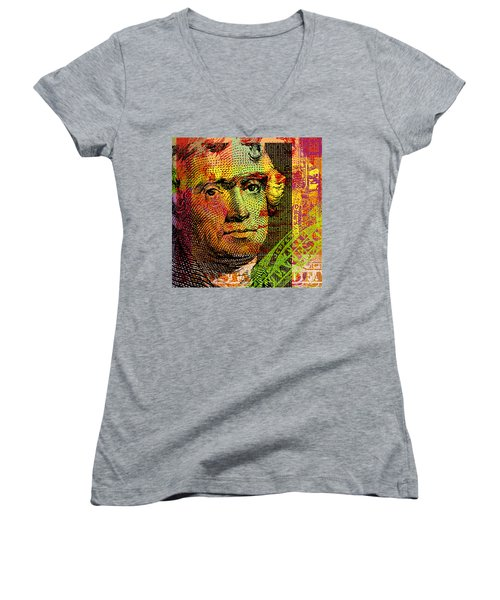 Thomas Jefferson - $2 Bill Women's V-Neck