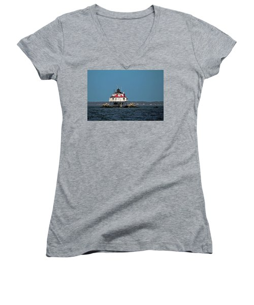 Thomas Point Shoal Light Women's V-Neck T-Shirt