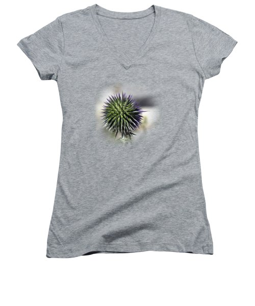 Thorn Flower T-shirt Women's V-Neck T-Shirt