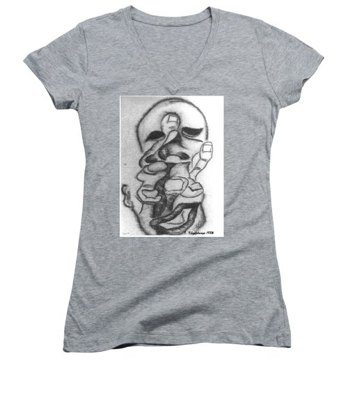 Thoughts And Thinking  Women's V-Neck T-Shirt