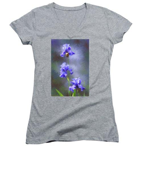 Three Iris Women's V-Neck T-Shirt