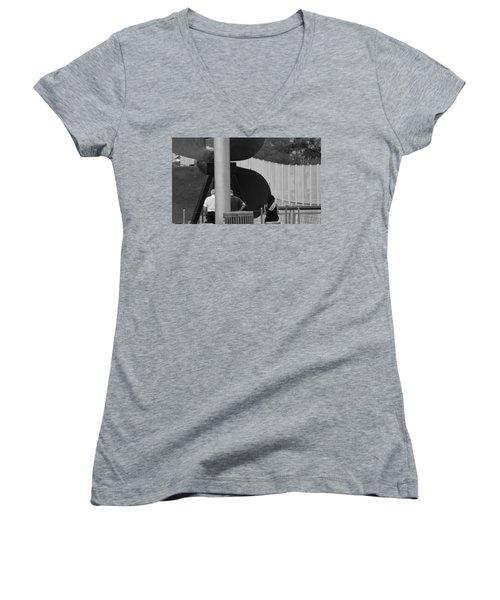 Three Is A Company Women's V-Neck T-Shirt (Junior Cut) by Jose Rojas