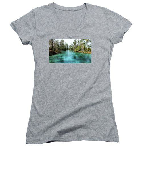 Three Sisters Springs Long View Women's V-Neck (Athletic Fit)