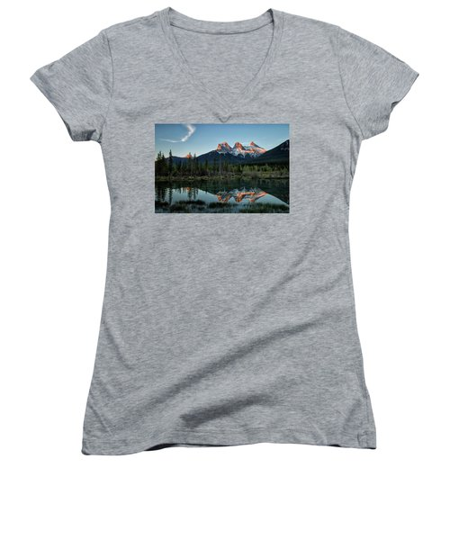 Three Sisters Sunrise Women's V-Neck T-Shirt