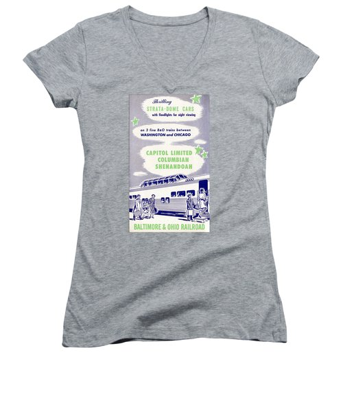 Thrilling Strata-dome Cars Women's V-Neck (Athletic Fit)